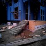 Наружная Монолитная бетонная лестница №2