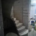 Монолитная бетонная лестница №19