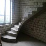 Монолитная бетонная лестница №27