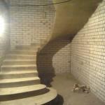 Монолитная бетонная лестница №28