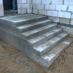 Наружная Монолитная бетонная лестница №7