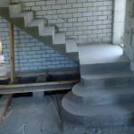 Монолитная бетонная лестница №9