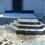 Наружная Монолитная бетонная лестница №6