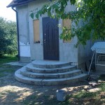 Наружная Монолитная бетонная лестница №5