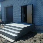 Наружная Монолитная бетонная лестница №4