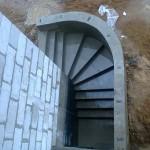 Наружная Монолитная бетонная лестница №3