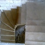 Монолитная бетонная лестница №26