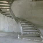 Монолитная бетонная лестница №2