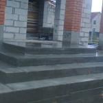 Наружная Монолитная бетонная лестница №1